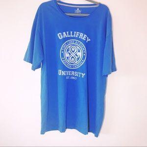 Gallifrey University Dr. Who Blue T-shirt 2XL